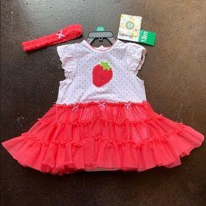 Little Me Bodysuit with Tulle Skirt & Headband